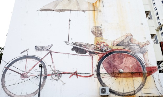 trishaw-man-street-art