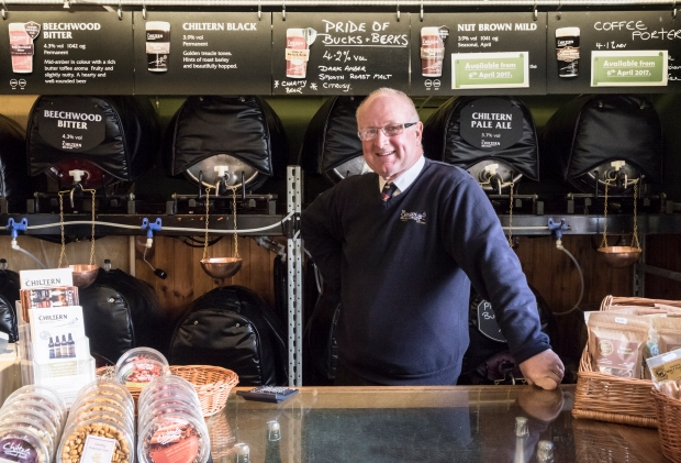 Andy the bartender and front of house at the chiltern brewery